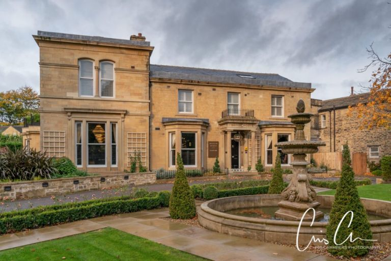 Lindley Manor House wedding photographer huddersfield. The Manor House in Autumnal light.