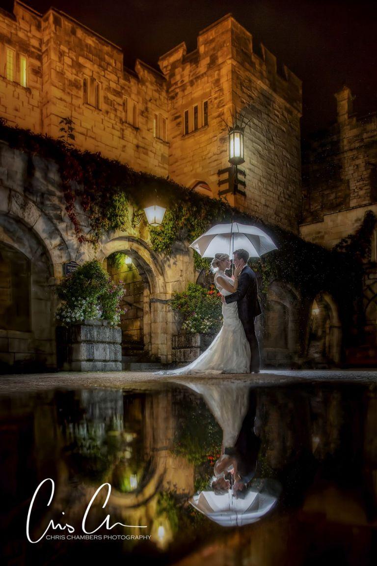 Yorkshire wedding photographer at Hazlewood Castle