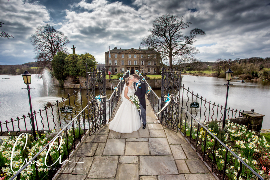 West Yorkshire wakefield wedding photography, Walton Hall Hotel wedding photographs, Waterton Park Hotel wedding photography of the bride and groom