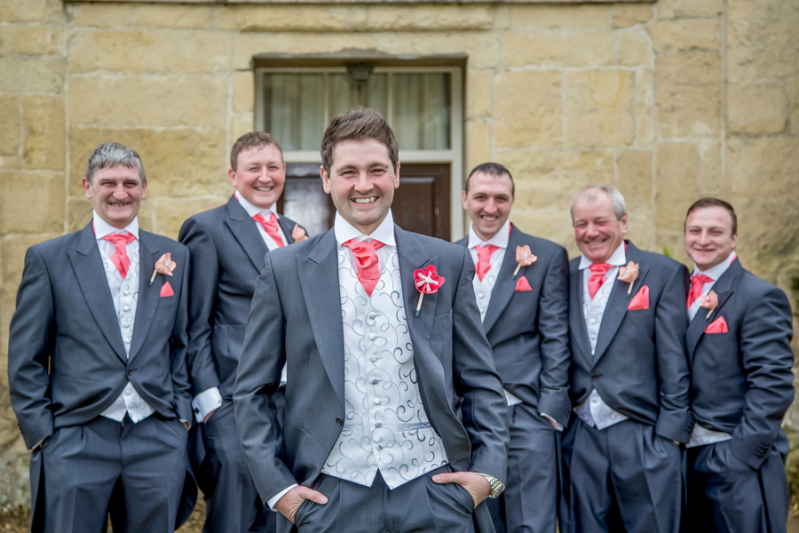 The groom and groomsmen in Malton