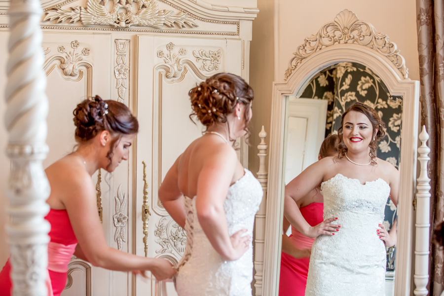 Bridal preparation in Malton at The Old Lodge wedding venue