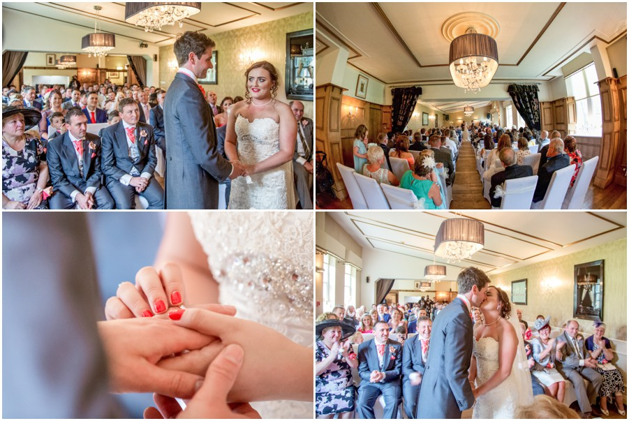 The wedding ceremony at The Old Lodge in Malton
