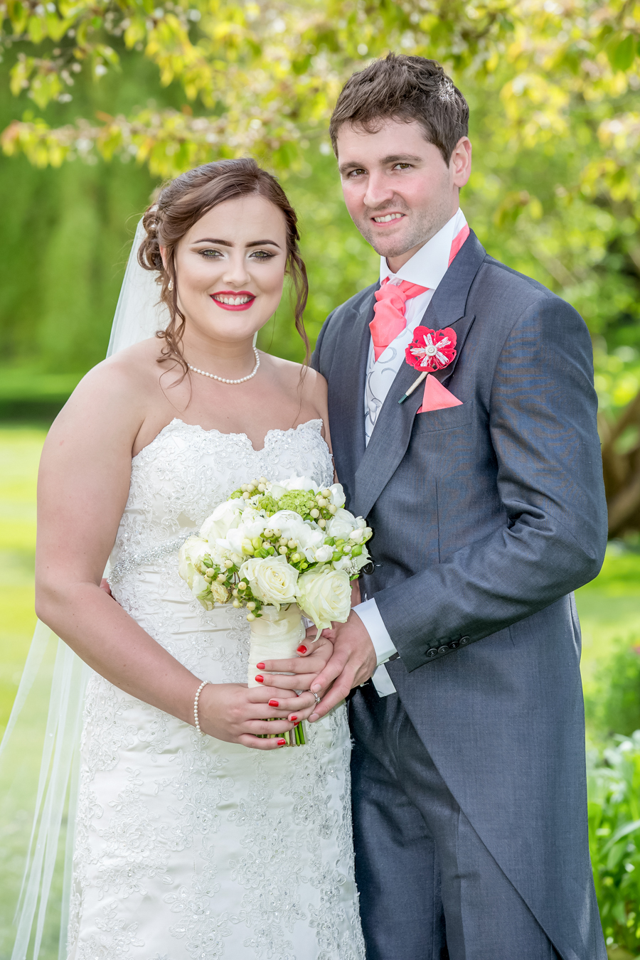 Wedding photography of the bride and groom in Malton