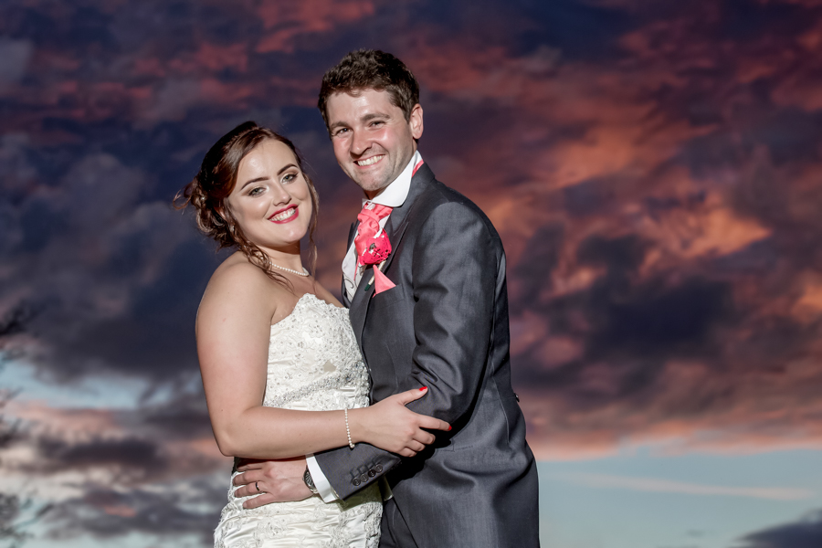 Sunset wedding photography in Malton