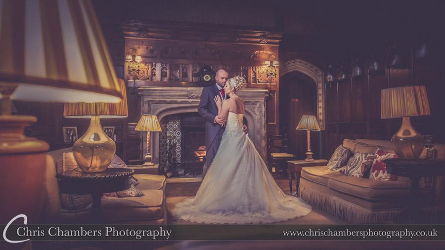 Bride and groom inside Carlton Towers. Carlton Towers wedding photos. Chris Chambers award winning Carlton Towers wedding photographer