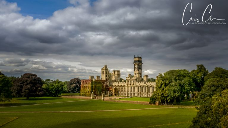 drone photograph of carlton towers stately home and wedding venue in east yorkshire