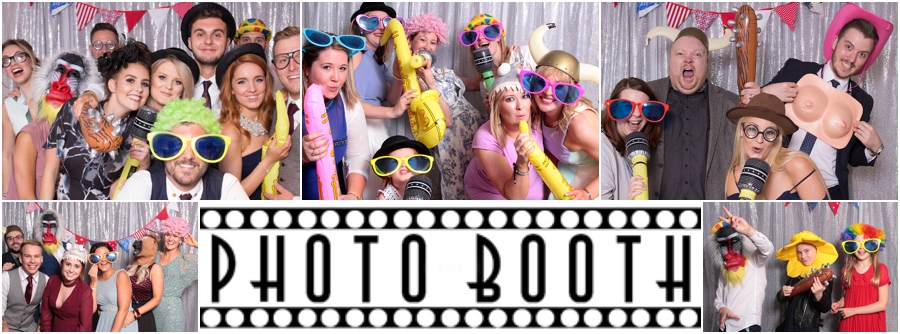 Photobooth style backdrop at weddings