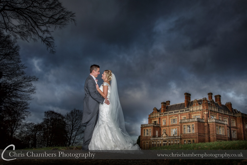 Rossington Hall Wedding Photography With The Bride And Groom