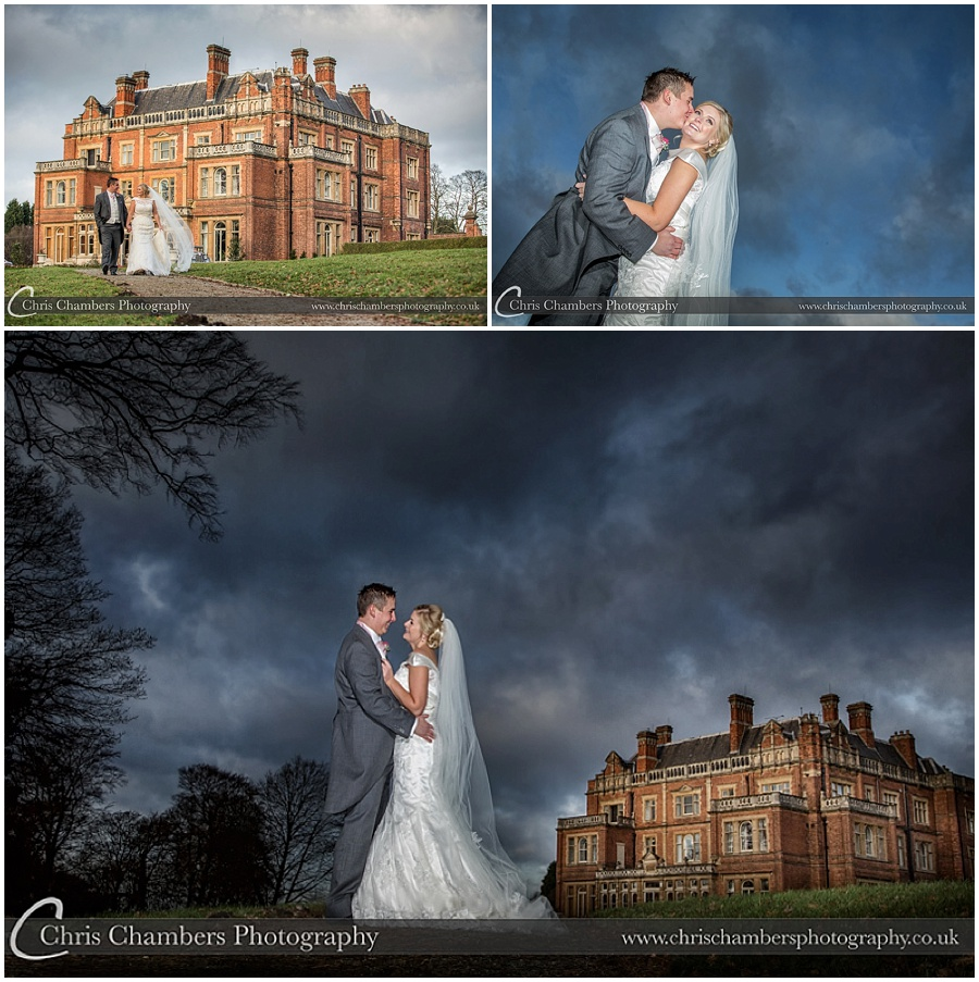 Rossington Hall photography of weddings : Bride and groom wedding photography at Rossington Hall : Doncaster wedding venue Award winning wedding photography of Rossington Hall : Doncaster Wedding Photography : Wedding photos taken at Rossington Hall