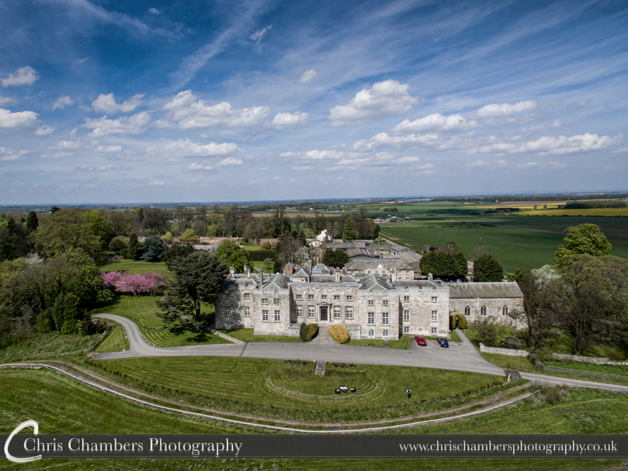 Hazlewood Castle aerial photo