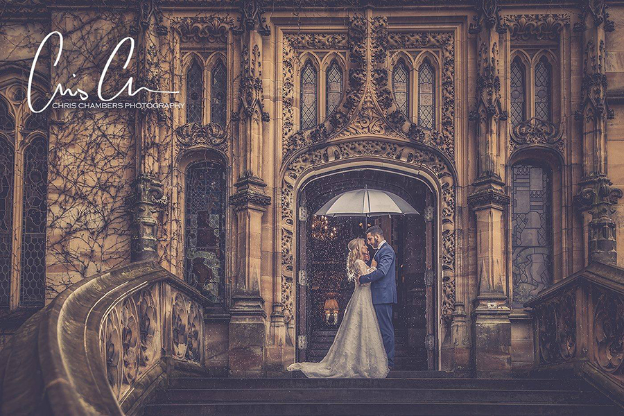 Carlton Towers wedding photography - rainy day weddings