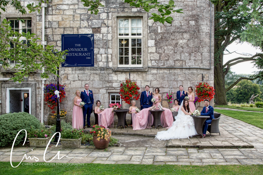 Hazlewood Castle wedding photographs in North Yorkshire, Chris Chambers wedding photography, Bride and groom wedding photographer