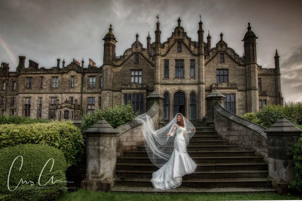 rainbows and stormy skies at.a wedding. Wet weather wedding photography