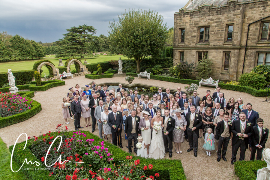 North Yorkshire Wedding Photographer and Allerton Castle Wedding Photography, Chris Chambers Photography of Allerton Castle, Allerton Castle wedding photography in Knaersborough of the bride and groom, Yorkshire Photographer