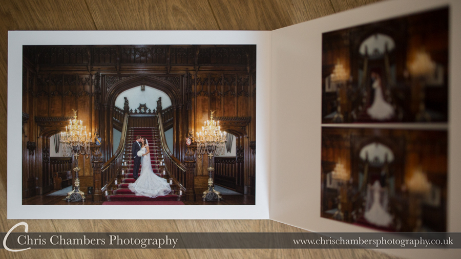 Allerton castle wedding photography album from chris Chambers.