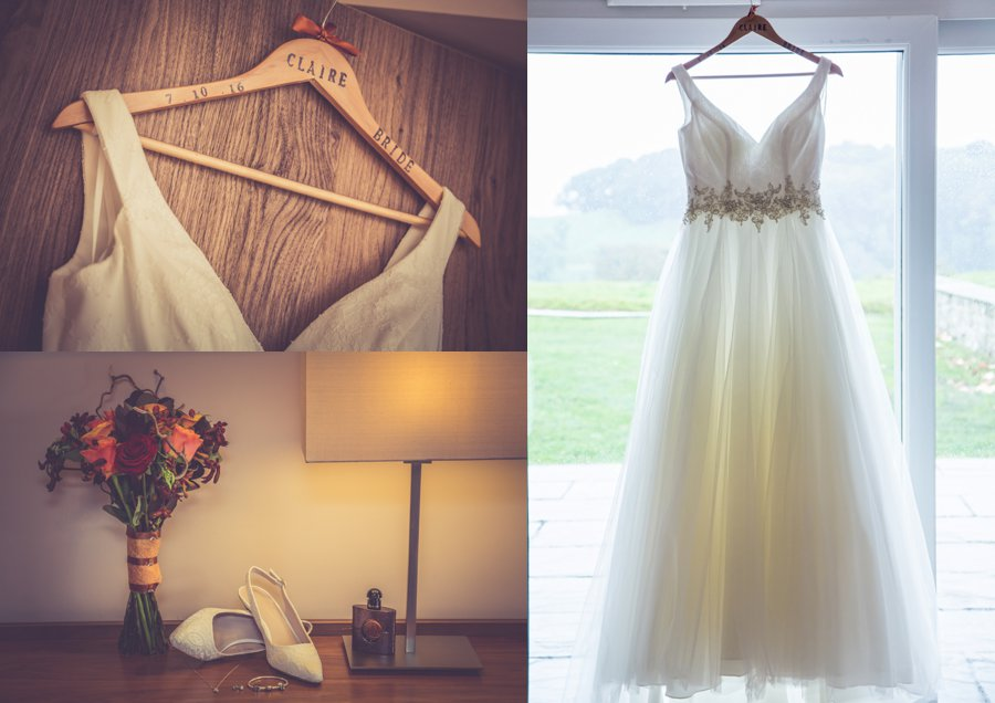Bridal details and preparation wedding photographs at Coniston Hall Hotel - wedding photography