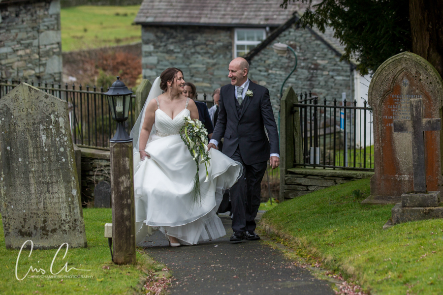 Lake district wedding photography - the langdale hotel and Spa.