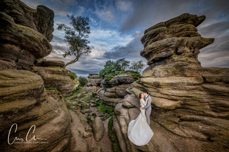 Pre-wedding shoot with a bride and groom. Chris Chambers Photography