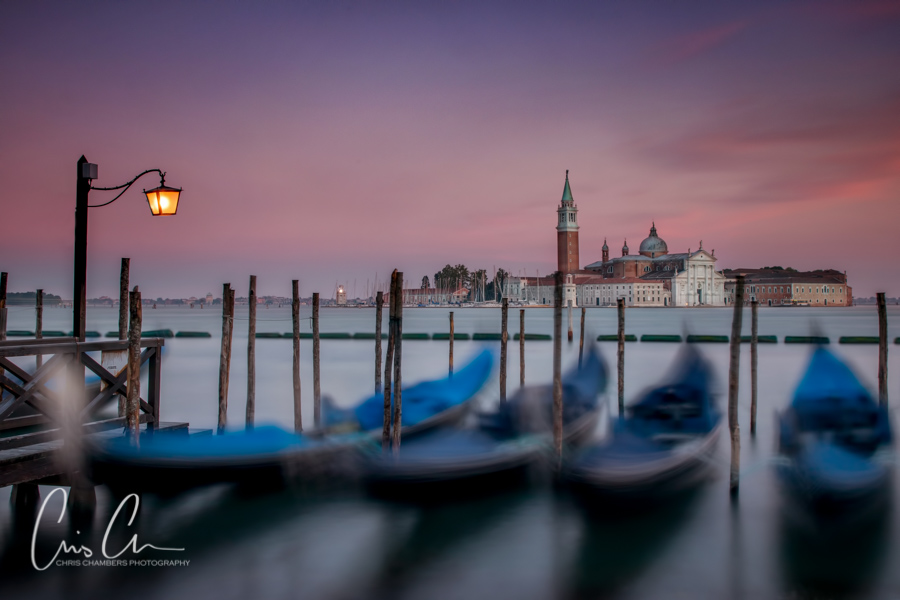Venice Gondolas at St Marks Square. Landscape photography from Chris Chambers