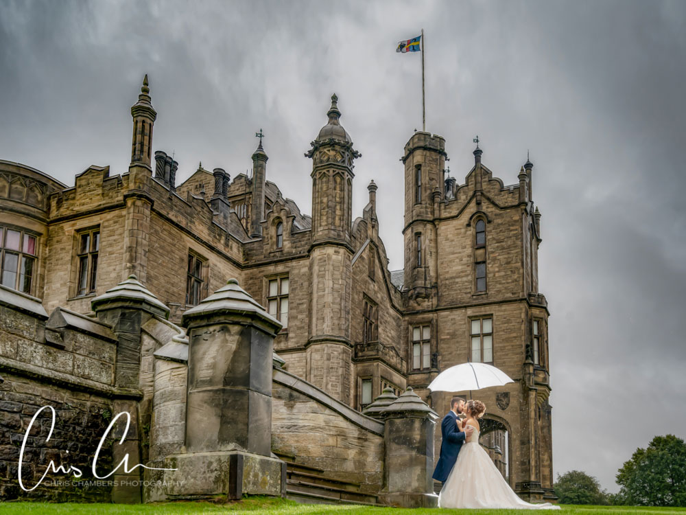 Frances and Jacob were married earlier this summer at the amazing Allerton Castle, North Yorkshire. Although a rainy day to begin with, it certainly didn't dampen spirits and with such a stunning wedding venue for the photographs we weren't short of interior locations. (and of course Frances and Jacob were till keen to make use of the grounds for their wedding photographs, enduring a few showers to create lasting memories.