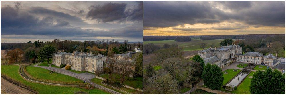 Hazlewood Castle drone photograph