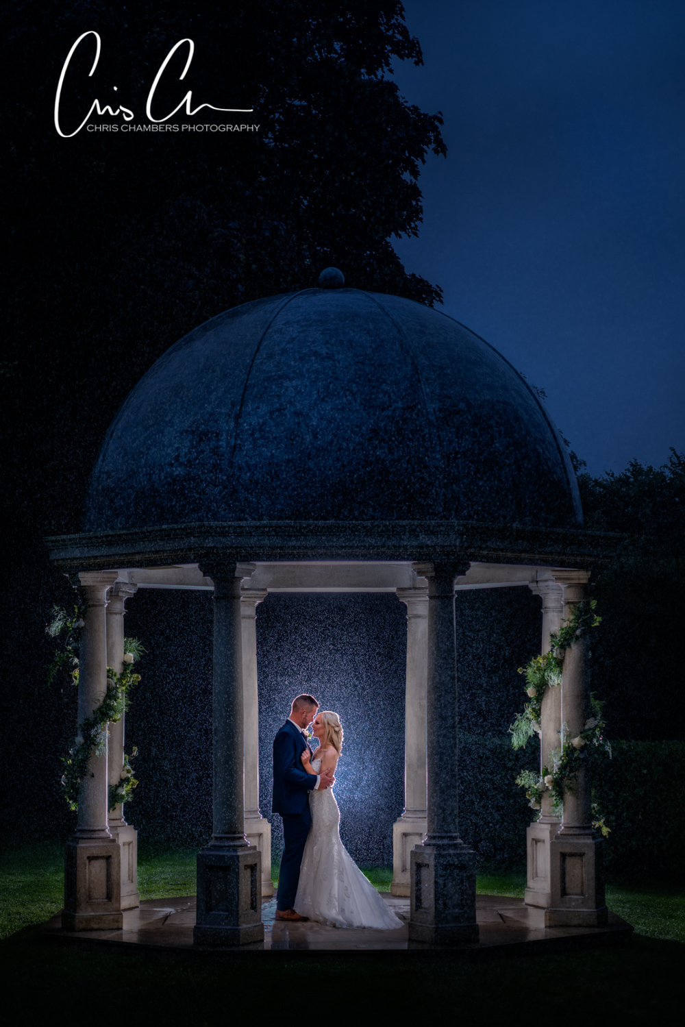 Wentbridge House Yorkshire wedding venue. Bride and groom photographed by Chris Chambers. Award winning west Yorkshire photographer