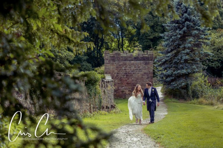 Wedding photograph taken at Ripley Castle North Yorkshire. Wedding photography Chris Chambers