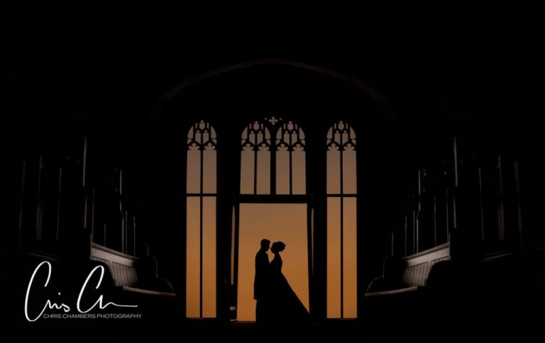Allerton Castle, North Yorkshire. award winning wedding photograph from Chris Chambers.